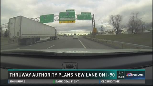 Thruway Authority Plans New Lane on I-90