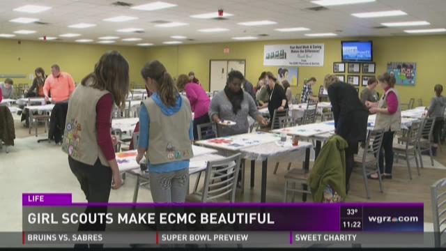 Girl Scouts Make ECMC Beautiful