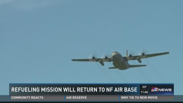 Refueling Mission Will Return To NF Air Base