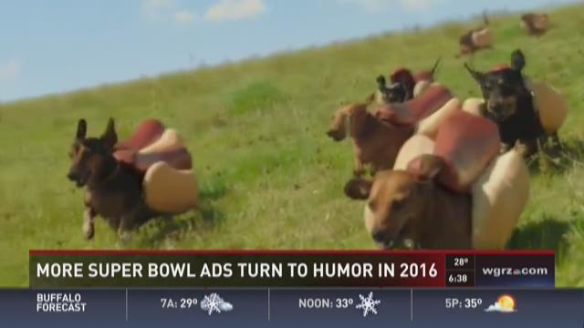 Super Bowl ads turn to humor