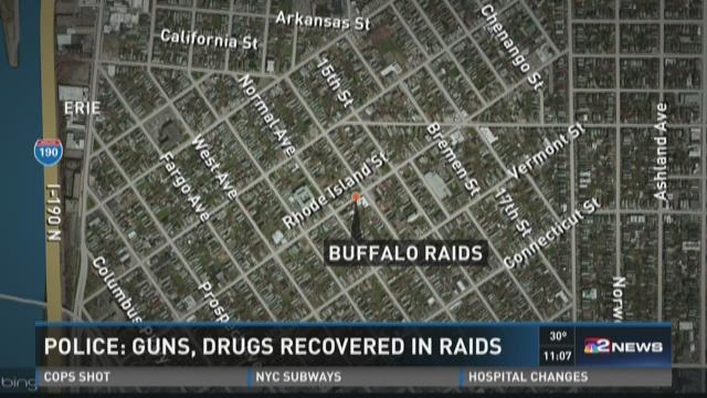 Police:  Guns, Drugs recovered in raids in Buffalo