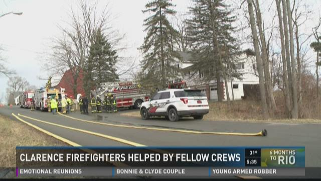 CLARENCE FIREFIGHTERS HELPED Y FELLOW CREWS