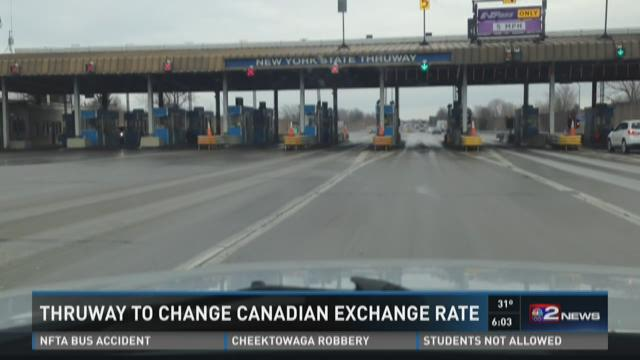 Thruway To Change Canadian Exchange Rate