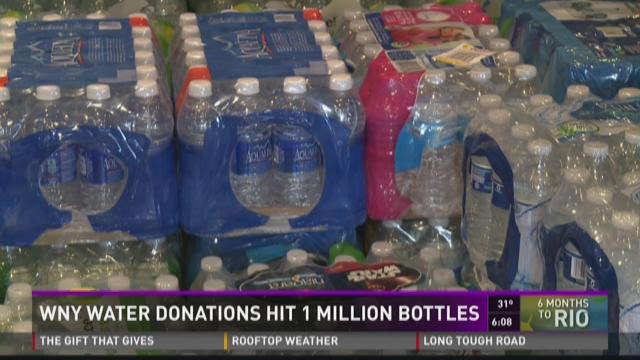 WNY Water Donations Hit 1 Million Bottles