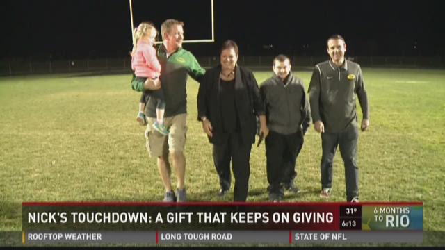 Nick's Touchdown: A Gift That Keeps On Giving