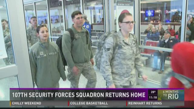 107th Security Forces Squadron Returns Home