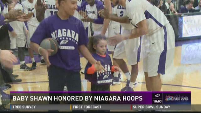 Baby Shawn Honored By Niagara Hoops