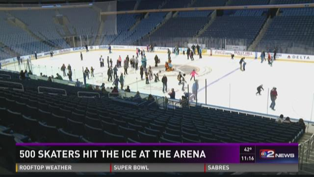 Skaters Hit the Ice at the Arena
