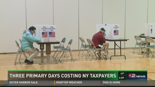 THREE PRIMARY DAYS COSTING NY TAXPAYERS