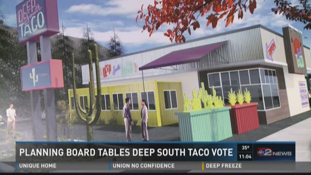 PLANNING BOARD TABLES DEEP SOUTH TACO VOTE