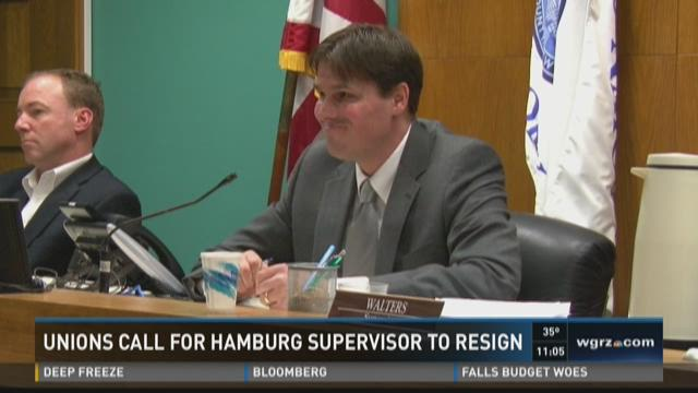 UNIONS CALL FOR HAMBURG SUPERVISOR TO RESIGN