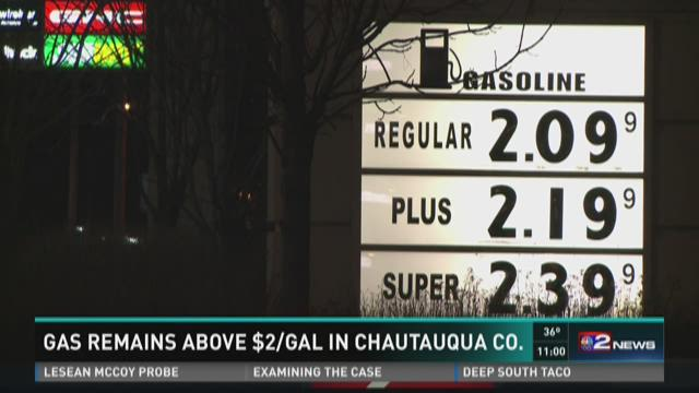 Gas Remains Above $2/Gal in Chautauqua Co.