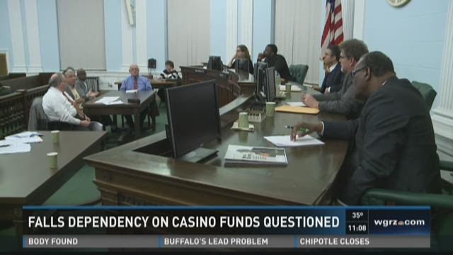 FALLS DEPENDENCY ON CASINO FUNDS QUESTIONED