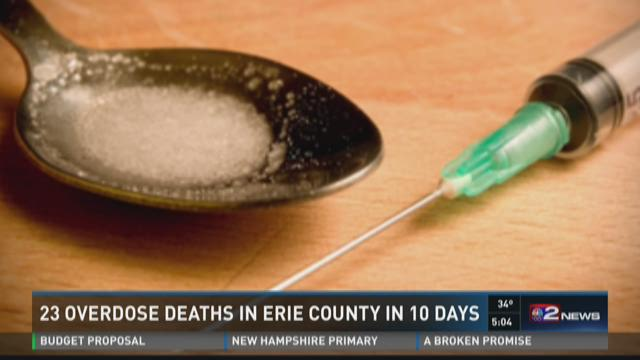 23 Overdose Deaths In Erie County In 10 Days