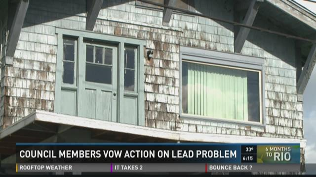 council members vow action on lead problem
