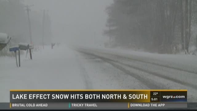 lake effect snow hits both north & south