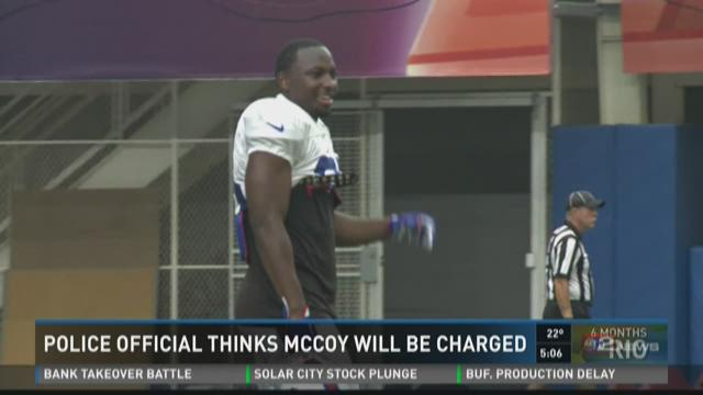 police official thinks mccoy will be charged