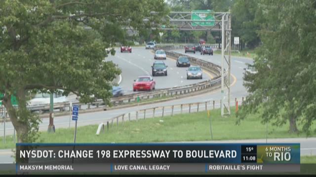 NYSDOT: Change 198 Expressway to boulevard