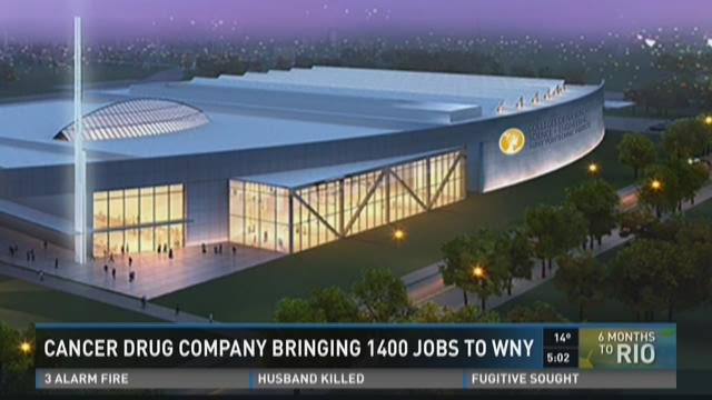 CANCER DRUG COMPANY BRINGING 1400 JOBS TO WNY