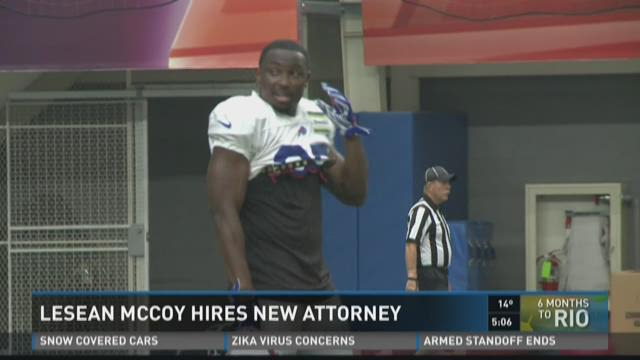 LESEAN MCCOY HIRES NEW ATTORNEY