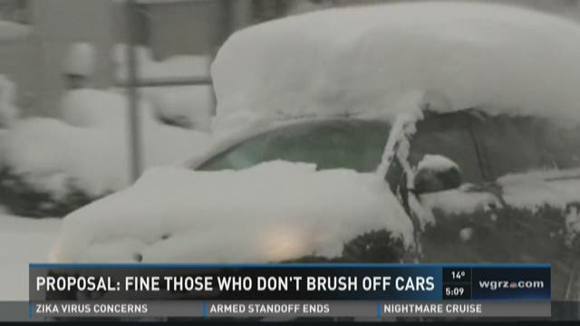 PROPOSAL: FINE THOSE WHO DON'T BRUSH OFF CARS