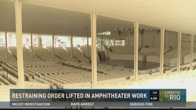 Restraining Order Lifted In Amphitheater Work