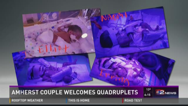 Amherst Couple Welcomes Quadruplets