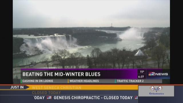Daybreak on the Road in Niagara Falls