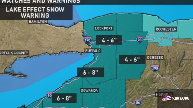 Snow Movng In to WNY