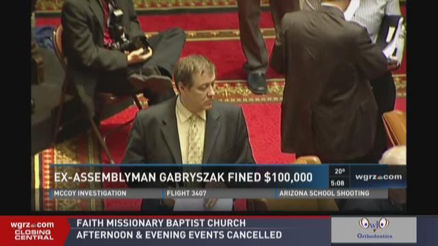 EX-ASSEMBLYMAN GABRYSZAK FINED $100,000