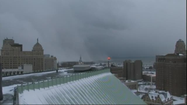 TIMELAPSE VIDEO - Lake Effect Snow moves from Buffalo to the South