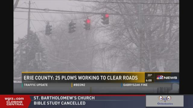 Erie County: 25 Plows Working To Clear Roads