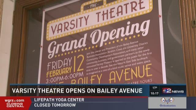 Varsity Theatre Opens On Bailey Avenue