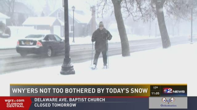 WNY'ers Not Too Bothered By Today's Snow