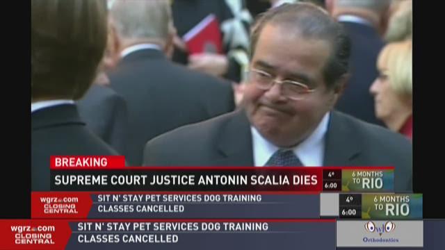 SUPREME COURT JUSTICE ANTONIN SCALIA DIES