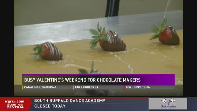 BUSY VALENTINES WEEKEND FOR CHOCOLATE MAKERS
