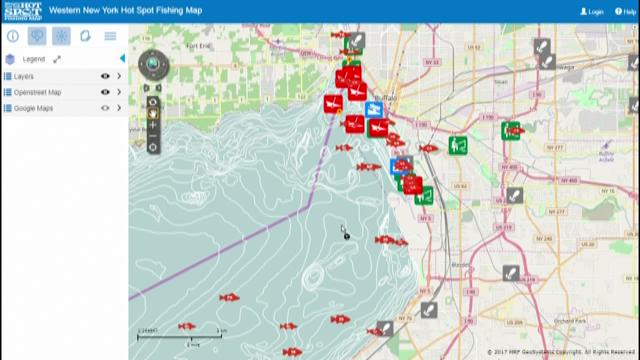 Erie co unveils new online fishing map for Plenty of fish albany ny