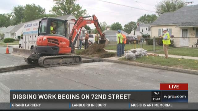 Niagara Falls begins digging new water pipes