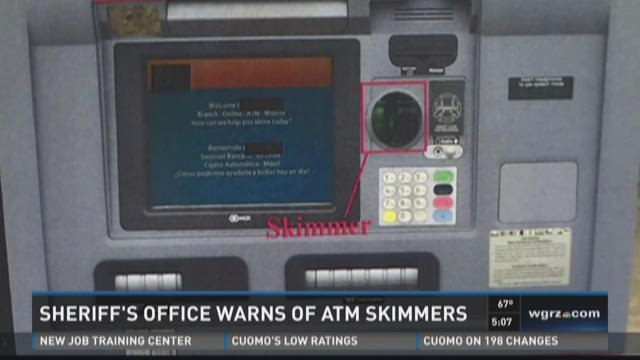 how to tell if atm has skimming device