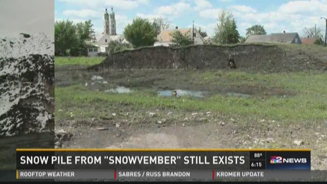 "Snow Pile From ""Snowvember"" Still Exists"