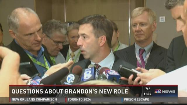 Russ Brandon meets with the Buffalo media about his new role with the Buffalo Sabres
