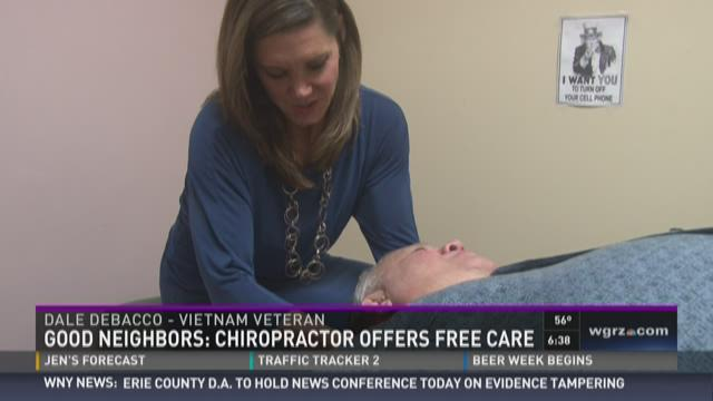 Dr. Kristin Jacobsen of Family Chiropractic in Niagara Falls is offering free care for service-members injured in combat.
