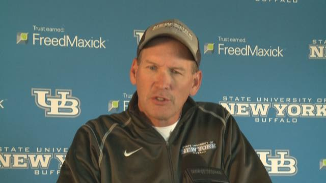 Lance Leipold of UB Central Michigan game