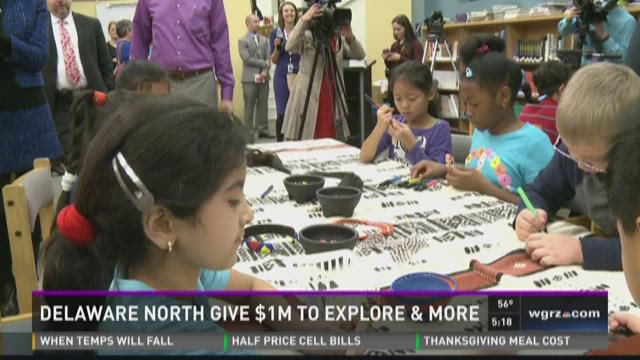 Explore & More museum receives $1 million check from Delaware North exceutives