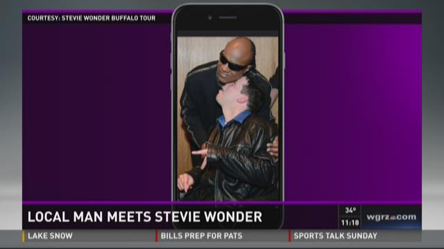 Local Man Meets Stevie Wonder